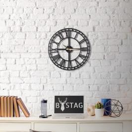 Čierne nástenné hodiny Greece, 50×50 cm