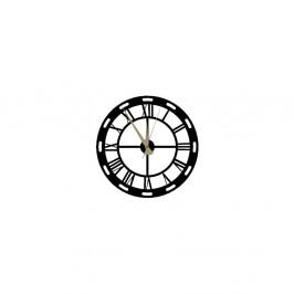 Čierne nástenné hodiny Roman Clock, 48×50 cm