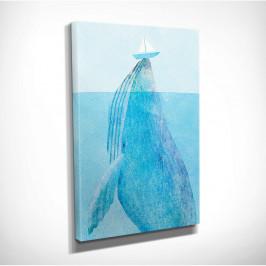 Nástenný obraz na plátne Whale, 30 × 40 cm