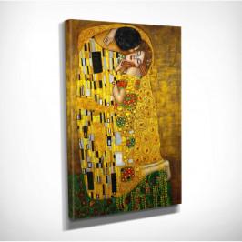 Nástenná reprodukcia na plátne Gustav Klimt The Kiss, 30 × 40 cm