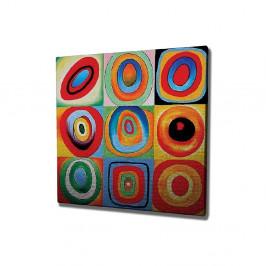 Nástenná reprodukcia na plátne Kandinsky , 45 × 45 cm