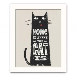 Dekoratívny obraz Cat, 28,5×23,5 cm