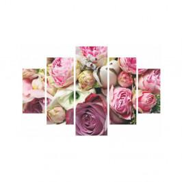 Viacdielny obraz Roses Are Pink, 92×56 cm