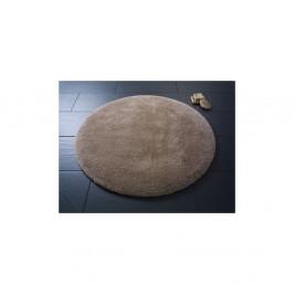 Hnedá okrúhla kúpeľňová predložka Confetti Miami,⌀100 cm