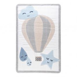 Detský svetlomodrý koberec Confetti Cloudy, 133x190cm