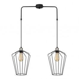 Čierne kovové závesné svietidlo Opviq lights Meletios