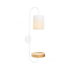 Biele kovové nástenné svietidlo s bielym tienidlom Opviq lights Marylena