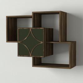 Nástenný polícový diel v dekore orechového dreva Arco