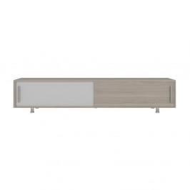TV stolík v dekore orechového dreva s bielymi detailmi Nehi Cordoba White