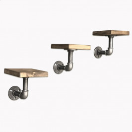 Sada 3 drevených nástenných poličiek Tube
