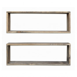 Sada 2 drevených políc Rectangle