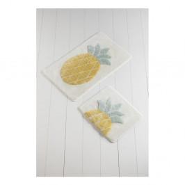 Sada 2 kúpeľnových predložiek Ananas