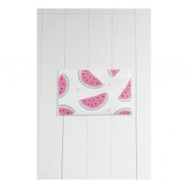 Bielo-ružová kúpeľňová predložka Tropica Watermelon, 60 × 40 cm