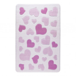 Detský rúžový koberec Confetti Sweet Love, 133×190cm