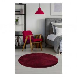 Tmavočervený koberec Milano, ⌀ 90 cm