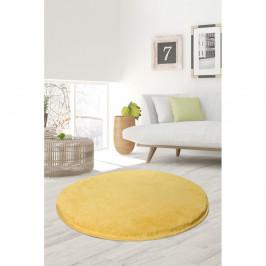 Žltý koberec Milano, ⌀ 90 cm