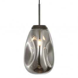 Závesné svietidlo z fúkaného skla v sivej farbe Leitmotiv Pendulum, výška 33 cm