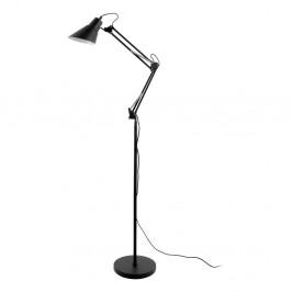 Čierna železná stojaca lampa Leitmotiv Fit