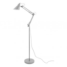 Sivá železná stojaca lampa Leitmotiv Fit