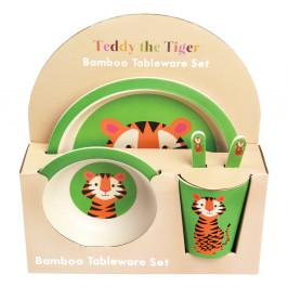 Sada detského bambusového riadu Rex London Teddy the Tiger