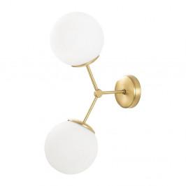 Nástenné svietidlo v bielo-zlatej farbe Opviq lights Damar