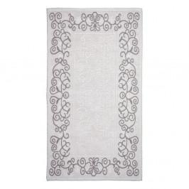 Sivobéžový bavlnený koberec Vitaus Orkide, 100×150 cm