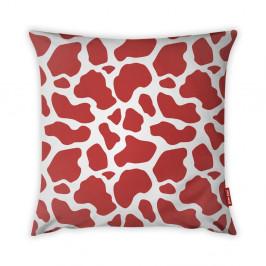 Červeno-biela obliečka na vankúš Vitaus Animal Print, 43×43 cm