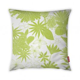 Limetkovozeleno-biela obliečka na vankúš Vitaus Jungle Verde, 43×43 cm