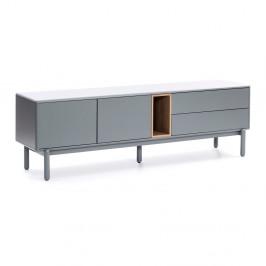 Sivý televízny stolík Teulat Corvo