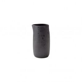Čierny kameninový džbán na mlieko Bitz Basics Black, 0,2l