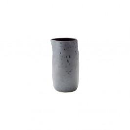 Sivý kameninový džbán na mlieko Bitz Basics Grey, 0,2l