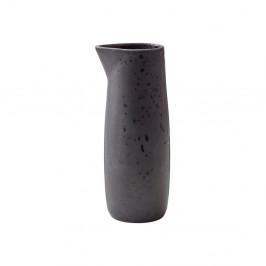 Čierny kameninový džbán na mlieko Bitz Basics Black, 0,5 l