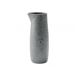 Sivý kameninový džbán na mlieko Bitz Basics Grey, 0,5 l