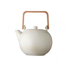 Krémovo-biela kameninová kanvička na čaj Bitz Basics Matte Cream, 1,2 l