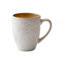 Krémovo-biely kameninový hrnček s uškom Bitz Basics Cream, 300 ml