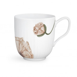 Biely porcelánový hrnček Kähler Design Hammershøi Poppy, 330 ml