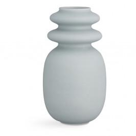 Modro-sivá keramická váza Kähler Design Kontur, výška 29 cm