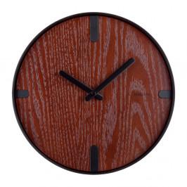 Nástenné hodiny z orechovej dýhy Karlsson Dashed, ø 30 cm