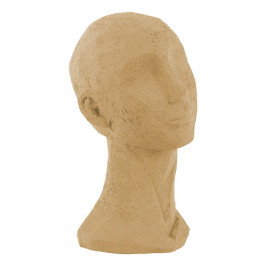 Pieskovohnedá dekoratívna soška PT LIVING Face Art, výška 28,4 cm
