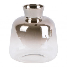 Sklenená malá váza PT LIVING Silver Fade, výška 10 cm