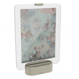 LED rámik na fotografiu so základom v sivej farbe Umbra Glo, 13 x 18 cm