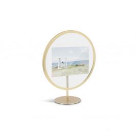 Voľne stojací rám v zlatej farbe na fotografiu 10 x 15 cm Umbra Infinity