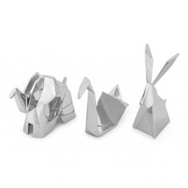 Sada 3 stojánku v striebornej farbe na šperky Umbra Origami