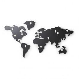 Čierna nástenná samolepka Umbra Map