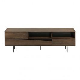 Hnedý TV stolík La Forma Cutt, 180 x 40 cm