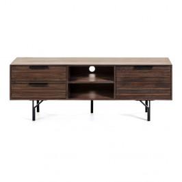 Tmavohnedý TV stolík La Forma Atalia, 160 x 57 cm