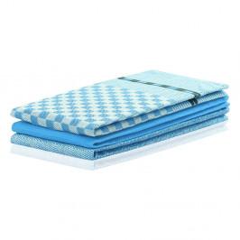Súprava 3 modrých bavlnených utierok DecoKing Louie, 50 x 70 cm