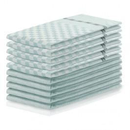 Sada 10 mentolovozelených bavlnených utierok DecoKing Louie, 50 x 70 cm