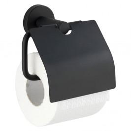 Čierny držiak na toaletný papier Wenko Bosio Cover