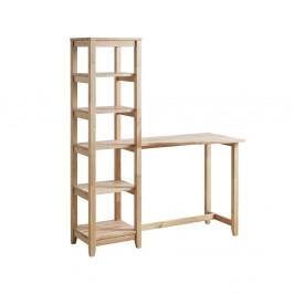 Písací stôl s regálovými poličkami DEEP Furniture Aileen